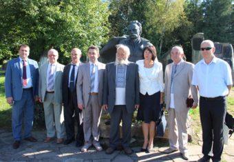 Drohobych University authorities and Academician Mykola Mushinka in the bard's native village.