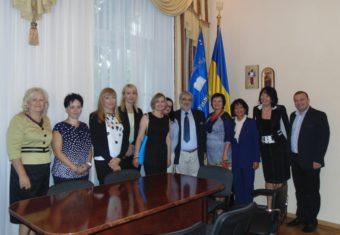 Rector Nadia Skotna welcomes Polish colleagues
