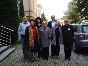 Conference participants. From left to right (back): Ihor Halyan, Oleksandr Nimylovych, Pavlo Skotny; (front): Olena Halyan, Iryna Bermes, Vira Meniok, Dariusz Wojakovski (Rzeszow)