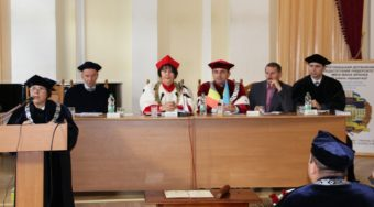 Participants and guests of the ceremonial session of the Academic Council