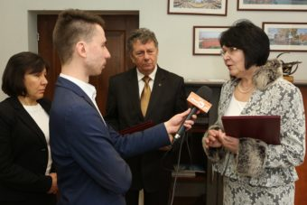 Polish local mass media covering the visit of the Drohobych delegation