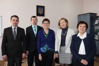 (Left to right) Assoc. Prof. Volodymyr Sharan, Assoc. Prof. Vitaly Fil, Prof. Lisette Pitellion, Dr. Svitlana Musina and Assoc. Prof. Svitlana Voloshanska