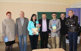 "Left to right: Assoc. Prof. Svitala Bila, Prof. Leonid Tymoshenko, Gulnara Bekirova, Assoc. Prof. Ihor Hrynyk, President of the board, ""Areket"" NGO Amet Bekirov, senior lecturer Orest Pilko, Assoc. Prof. Bohdan Lazorak"
