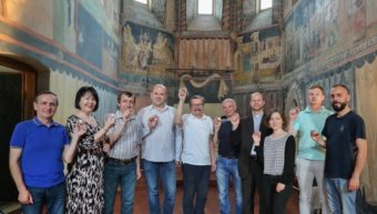 In the Chapel of the Holy Trinity in Lublin Castle