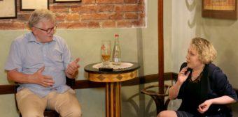 Grzegorz Gauden speaks. Moderated by Vira Meniok