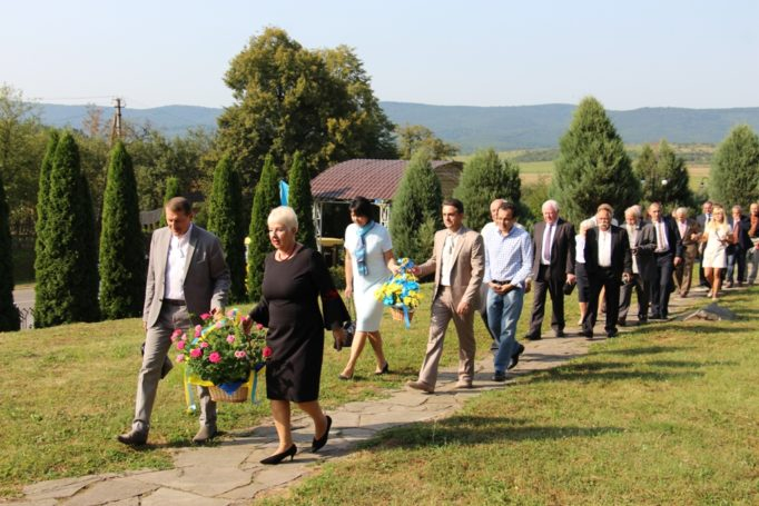 Representatives of the University, authorities of Drohobych and the organizing committee of the Ivan Franko International Prize visit the homeland of ivan Franko, the village of Nahuyevychi.