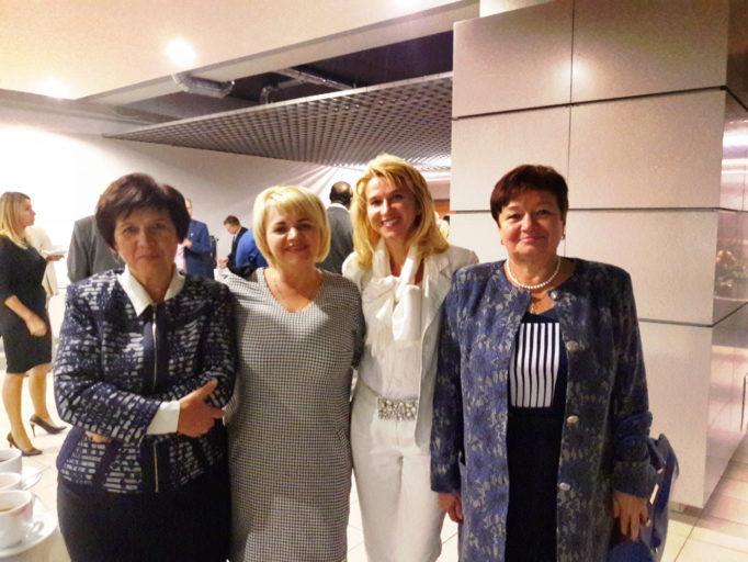 Dean Svptlana Voloshanska, coordinator Lesia Nadolska, Dr. Krystyna Mizerska, associate professor Svitlana Monastyrska