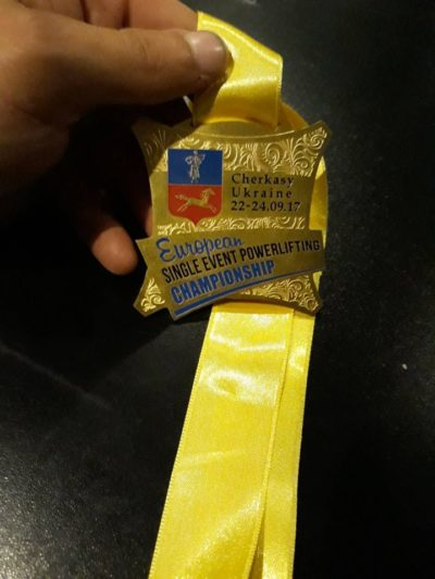 The champion's medal