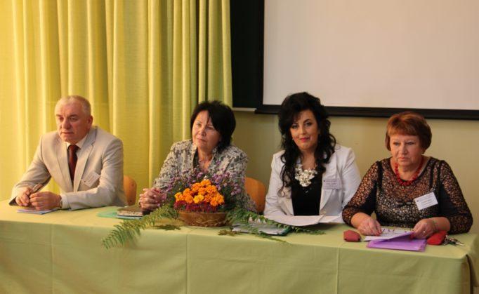 Presidium (left to right) Assoc. Prof. Ivan Kutniak, Prof.Nadia Skotna, Assoc. Prof. Lilia Stakhiv, Assoc. Prof. Halyna Fil