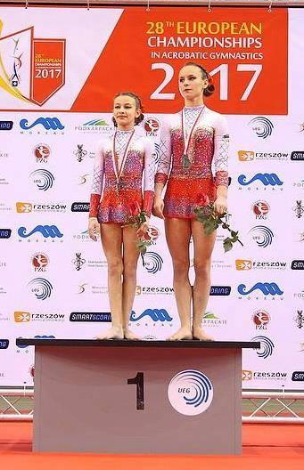 Yulia Pylypiak (on the right)