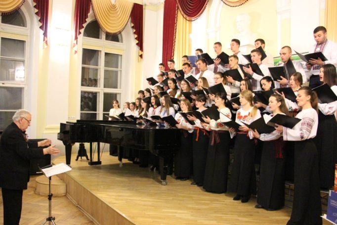 "The folk choir ""GAUDEAMUS"" sings, directed by Professor Stepan Datsyuk"