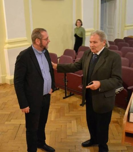 A friendly conversation of two professors: Michael Moser and Mykhailo Shalata