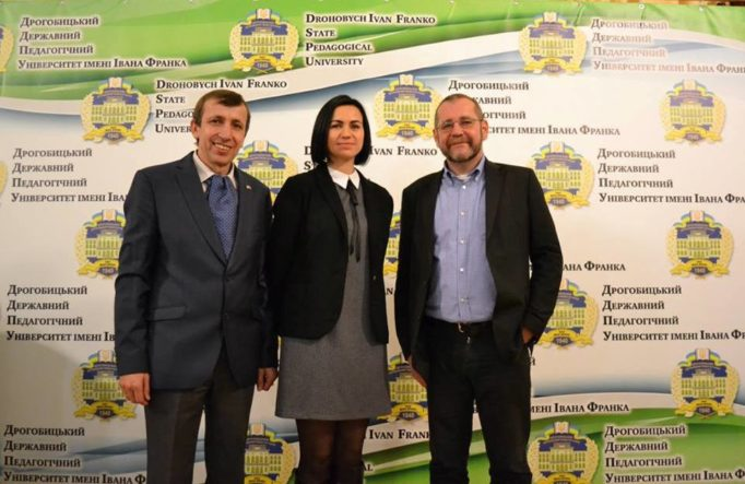 Associate Professor Yaroslav Lopushansky, lecturer Marta Matskiv and Professor Michael Moser