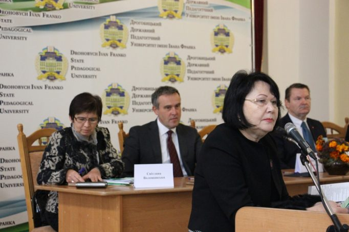 Rector Prof. Nadia Skotna welcomes the conference participants