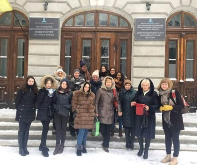 First meeting with the Ivan Franko University