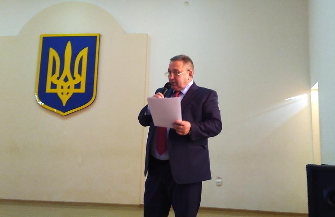 Лук'янченко Микола Іванович вітає учасників вечора