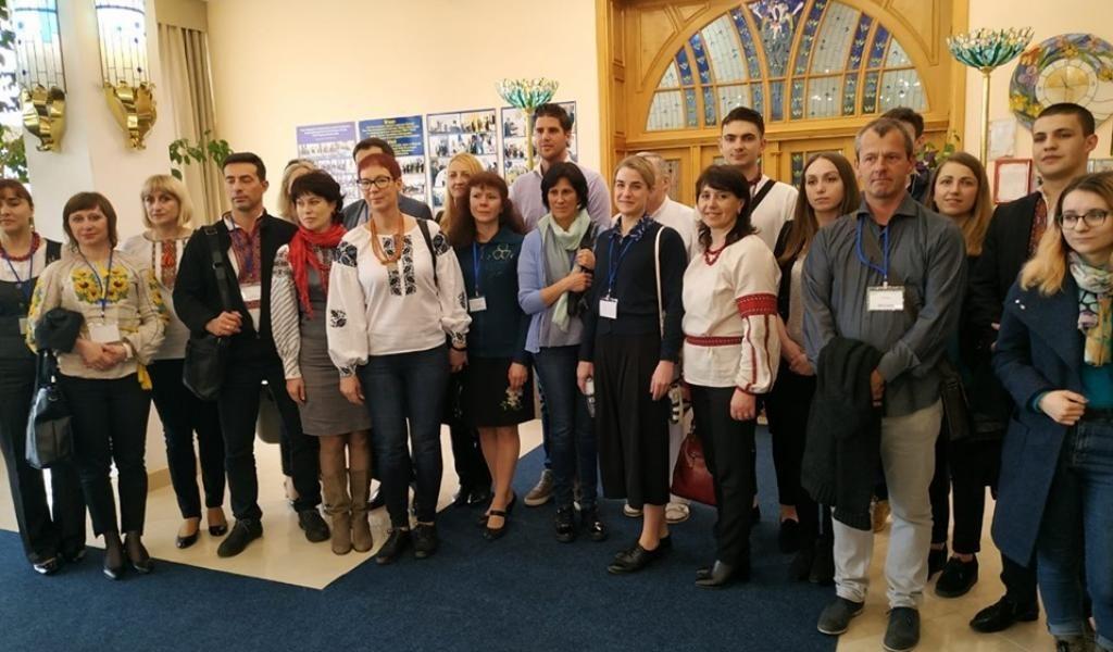 Учасники конференції у Міжнародній клініці відновного лікування (м.Трускаець)
