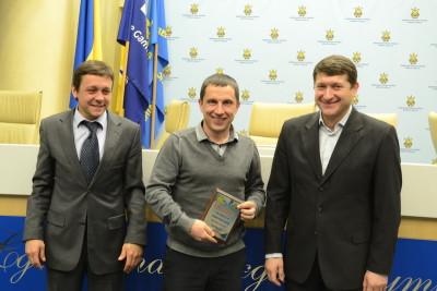 На фото зліва направо: С. Владико, Р. Проць, В. Каганов.