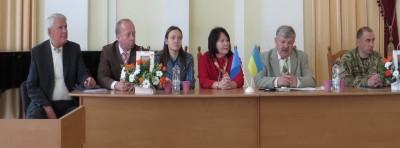 На фото зліва направо: доц. П. Фещенко, К. Штаут, О. Огороднікова, проф. Н. Скотна, А. Рой, Ю. Тищенко