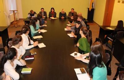 Круглий стіл представників студентського самоврядування, голів профбюро факультетів з адміністрацією університету