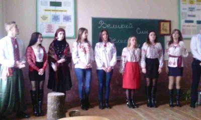 Учасники конкурсу інсценізації творів Кобзаря