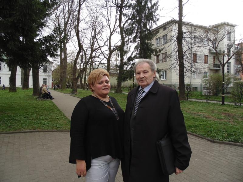 Галина Пащук разом зі своїм викладачем професором Михайлом Шалатою