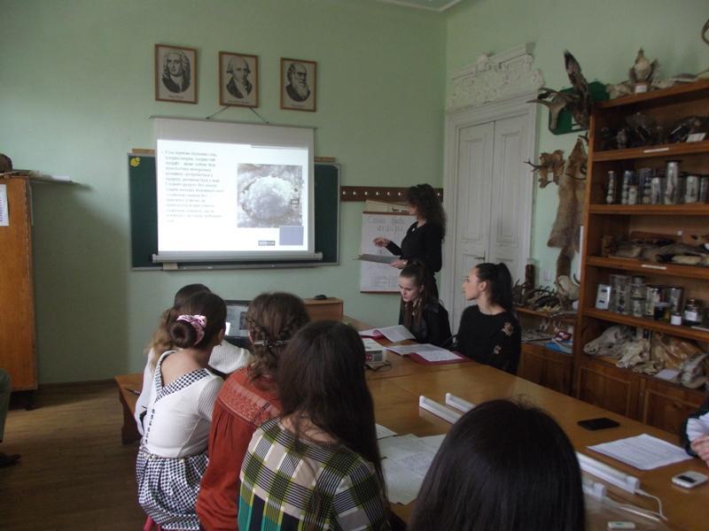 Доповідь студентки на секційному засіданні «Хімія»