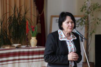 Промову виголошує ректор професор Надія Скотна