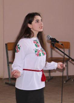 Декламація вірша у виконанні студентки 4 курсу Зоряни Баб'як