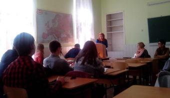 Виступає студентка третього курсу історичного факультету Аліна Звіринська.
