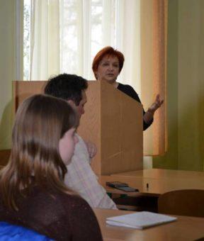 Модератор заходу ст.викладач Оксана Скварок