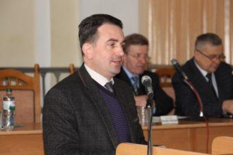 Вітальне слово виголошує проректор з науково-педагогічної роботи доцент Володимир Шаран