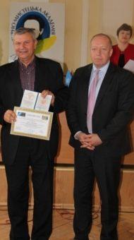 Полковник Віктор Скрильник та менеджер Програми НАТО-Україна Крістофер Штаут