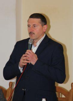 Учасників конференції вітає міський голова Дрогобича Тарас Кучма
