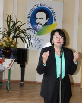 Учасників конкурсу вітає ректор університету професор Надія Скотна