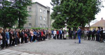 Відкриття освячення погрудь на фасаді головного корпусу університету