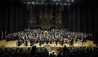 Виступ зведених хорів та оркестру Люблінської філармонії