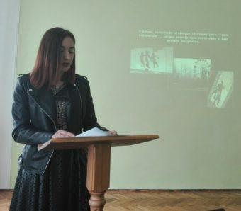 Виступає з доповіддю студентка Юлія Витрикуш