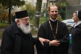 На фото (зліва направо): Блаженніший Любомир Гузар та о. Олег Кекош