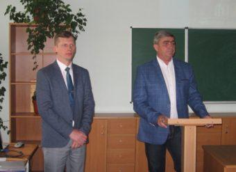 Зліва направо: доцент Іван Нищак та професор Леонід Оршанський