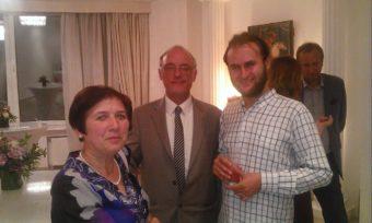 Дружня зустрiч доцента Свiтлани Волошанської та консула Королiвства Бельгія в Українi Гюдо Граувелс