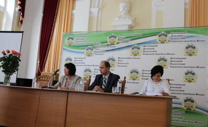 Президія вченої ради (зліва направо): ректор професор Надія Скотна, доценти Микола Галів та Ірина Патен