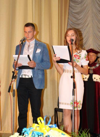 Ведучі свята Андрій Василів та Ірина Фітель