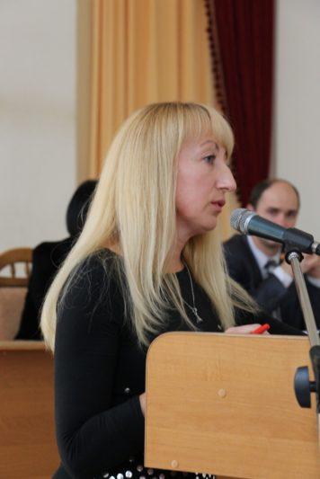 Виступ провідного спеціаліста відділу аспірантури, докторантури та наукової роботи Лесі Перхун