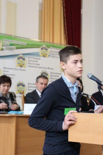Виступ учня Володимира Хоростіля