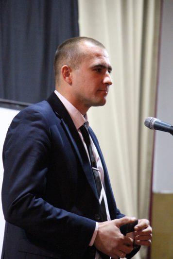 Вітальне слово випускника історичного факультету доцента Богдана Лазорака