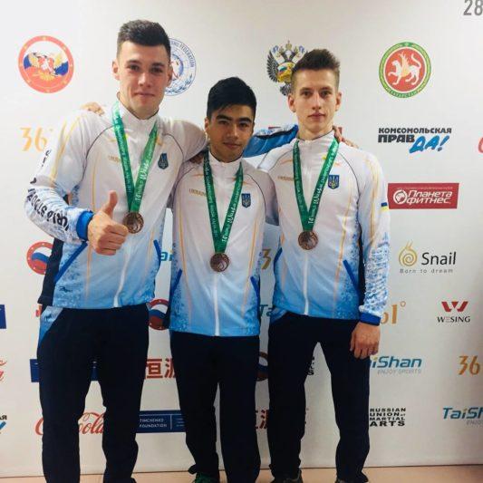 Андрій Фегецин у складі збірної України (перший зліва)