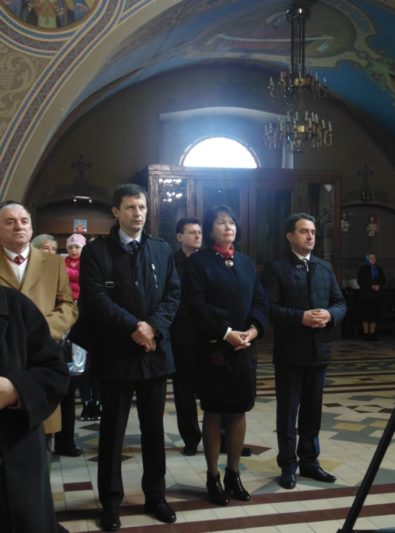 Адміністрація університету під час літургії в Катедральному храмі Пресвятої Трійці