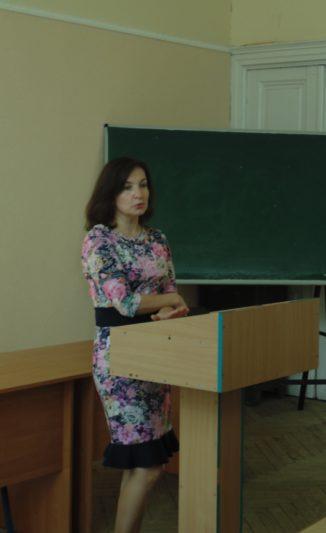 Модератор заходу доцент Леся Василенко
