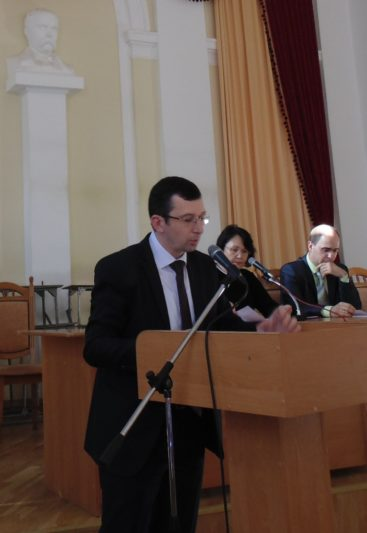 Про підсумки прийому 2017 року звітує відповідальний секретар приймальної комісії доцент Віталій Філь